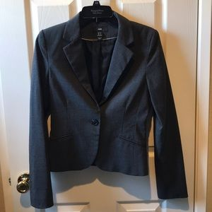 H&M charcoal lined blazer size 6 🌺